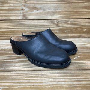 Naot Leather Slip On Mule Heels